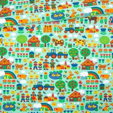 ByGraziela - Jersey  Fabric farm - Mint