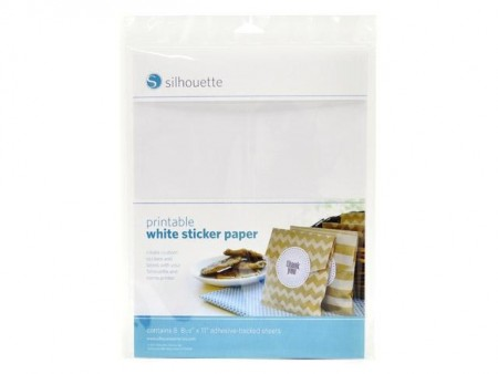 Silhouette HVIT Pintable Sticker paper